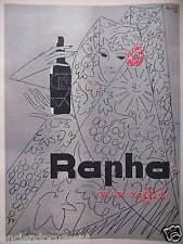 PUBLICITÉ 1959 RAPHA ON EN RAFFOLE - DESSIN LOUPOT - ADVERTISING