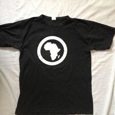 AFRICA LOGO T-SHIRT ~ AFRICA.COM BRASIL ~ AFRICA MERCHANDISE BLACK SZ M