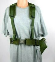 US Military Equipment Belt w/ Suspenders 1984 Canteen with Cover and 1963 Cup