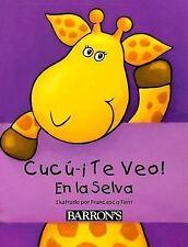 Cucú—¡Te Veo! En la Selva: Peek-a-Boo Jungle, Spanish Edition-ExLibrary