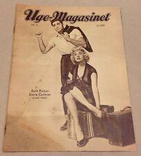 Ruth Roman Steve Cochran B&W Front Cover Original Vintage Danish Magazine 1952