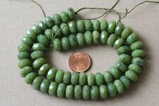 Kanada-Jade(Serpentin)-Strang(Rondell, 10x6 mm. facettiert) N-1179/N