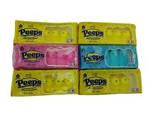 Peeps Yellow Pink Blue Chicks Marshmallow Candy 6 Packs of 5 30 Total  BB 1/2022