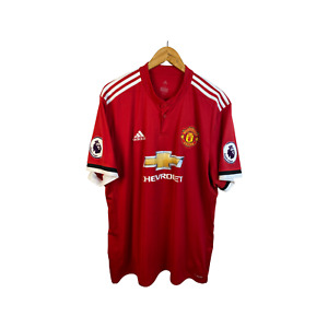 MANCHESTER UNITED 2017 2018 HOME FOOTBALL SHIRT SOCCER JERSEY ADIDAS ALEXIS