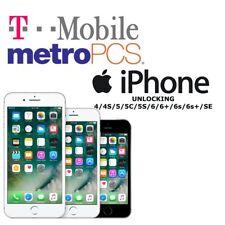 Tmobile/Metro PCS Iphone Unlocking Service 4/4s/5/5c/5s/SE/6/6+/6s/6s+ [1-5days]