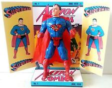 "SUPERMAN 6"" / 15cm ACTION FIGURE on a Comic Book Custom Design Display Diarama"