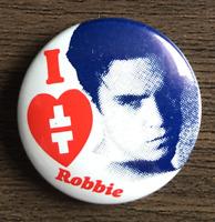 I LOVE ROBBIE WILLIAMS - TAKE THAT BUTTON BADGE  90s Era Boy Band  25mm PIN