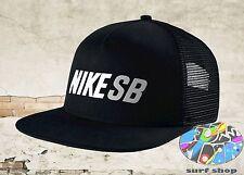 New NIKE SB Daily Use Mens Black Reflective Skateboard Snapback Trucker Cap Hat