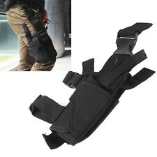 Black Military Tactical Puttee Thigh Leg Pistol Handgun Belt Holster Pouch New