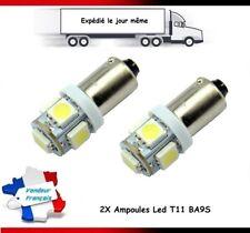 2X AMPOULES LED T11 BA9S LAMPE VEILLEUSE TUNING BLANC 6000K PLAFONIER, PLAQUE