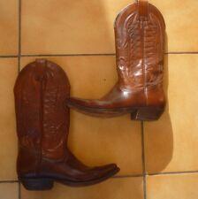 Bottes Santiag Cuir Pointure 36 (Petit 37) Mexicana Tbe