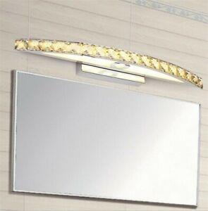 Bathroom K9 Crystal Wall Light Mirror Front Waterproof Antifogging LED Lighting