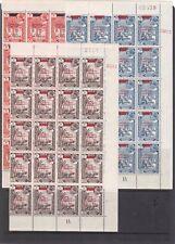 ADEN British 1966 Kennedy set 3v BLACK Opt Plate Blocks TWENTY sets Superb MNH.