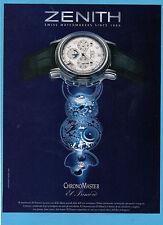 BELLEU001-PUBBLICITA'/ADVERTISING-2001- ZENITH CHRONOMASTER EL PRIMERO