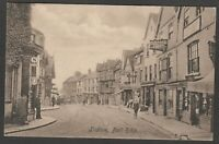 Postcard Ludlow Shropshire shops in Bull Ring early view