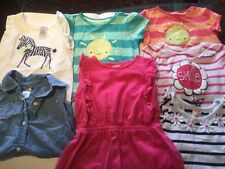 Gymboree Lot Of 7 Toddler Girl Summer Shirts Size 4T