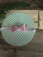Beautiful Lavender  Faux Leather Bow Knot Baby Headband