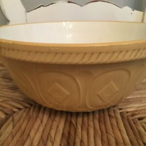 BEAUTIFUL LARGE MASON & CO. VINTAGE  EARTHENWARE MIXING BOWL ENGLISH 12""
