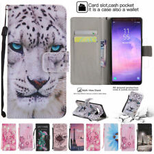 Wallet Cartoon leather Gel Soft Flip Stand phone cover case For Huawei Sony #1