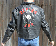 Vintage 80's Steinmark Leather Motorcycle Jacket  Behind the 8 Ball