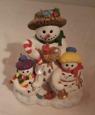Partylite Snowbell Candle Holder Votive Tealight P7702 Snowman Family