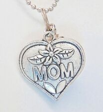 Cremation Urn Necklace, Mom Heart Charm and Capsule || Discreet and Beautiful