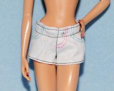 CUTE! White Denim w/ Color Stitches Short Shorts Genuine BARBIE Summer Wear