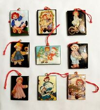 """vinyl. Size 1"""" x 1.5"""", darling collectibles! Raggedy Ann & Andy charms or tags;"""