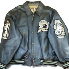Avirex 4XL Leather Varsity Jacket Speed Tigers Twin Dragon Dark Python Panther