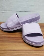 Calvin Klein Men's MACKEE Slide Sandal Purple lavender Rubberized Sz 9 MSRP $87