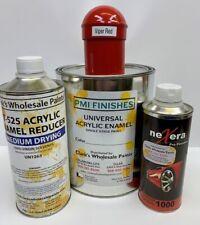 Viper Red Gallon Kit Single Stage ACRYLIC ENAMEL Car Auto Paint Kit