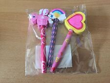 Pack of 3 Fantasy Themed Pencils & Eraser Toppers - New
