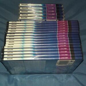 Philips DVD-RW disc bundle (Set of 20) 4.7GB, 120 minutes, 1-2x speed, New