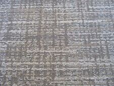 BARGAIN ROLL END OF 5 METRES, A WOVEN UPHOLSTERY FABRIC IN GREY, BROWN & BEIGE.