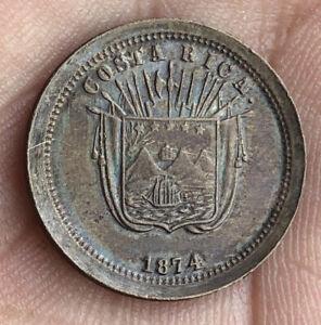 COSTA RICA 1874 1 CENTAVO, SCARCE VERY NICE CONDITION LM