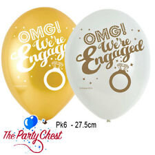 6 OMG! ENGAGEMENT BALLOONS Helium Quality Party Balloons Decorations 902235