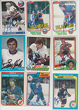 1983-84 OPC SIGNED CARD RICK LAPOINTE NORDIQUES RED WINGS FLYERS BLUES KINGS 294
