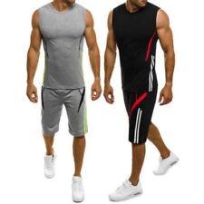 Abbiglimento sportivo da uomo multicolore in misto cotone senza maniche