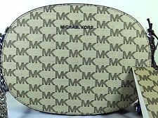 MICHAEL Michael Kors Ginny Medium Blue MK Signature Messenger Bag
