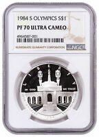 1984 S Olympics Commemorative Silver Dollar Proof $1 NGC PF70 UC SKU23059
