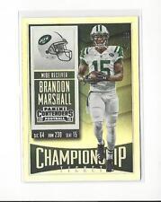 2015 Panini Contenders Championship Ticket #83 Brandon Marshall Jets /99