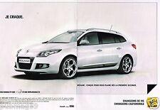 Publicité advertising 2010 (2 pages) Renault Megane Estate