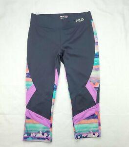 Fila Sport  Women's Running Yoga Athletic Pants Leggings Capri Gray Size Small
