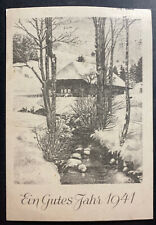 1940 Germany Buchenwald Concentration Camp Christmas Postcard Cover 400 Only
