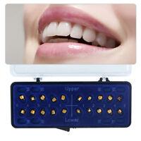 Dental 24K Gold Coated Orthodontic Metal Brackets Mini Roth 022 3-4-5 20Pcs/Set