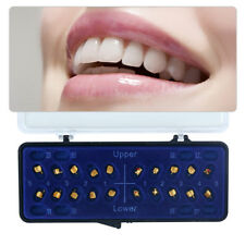 Dental 24K Gold Coated Orthodontic Metal Brackets Mini Roth 022 3-4-5 20Pcs/Set
