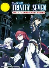 Trinity Seven DVD (Eps : 1 to 12 end + 2 Movie) with English Dubbed