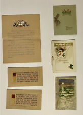 6 Charming Unused Victorian/Early 1900s Greeting Cards - Antique Christmas Cards