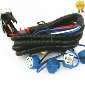 OEM Ceramic H4 Headlight Relay Wiring Harness 4 Headlamp Light Bulb Socket Plug