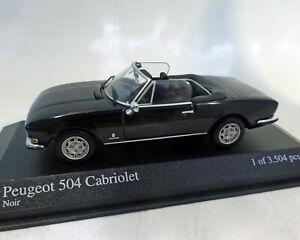 Peugeot 504 Cabriolet Noir , 1:43, MINICHAMPS